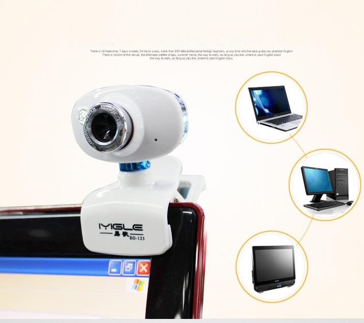 Webcam kẹp màn hình trắng