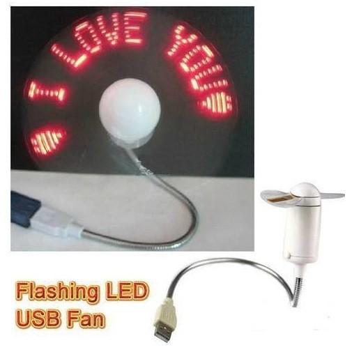 Quạt tạo chữ đèn LED gắn cổng USB