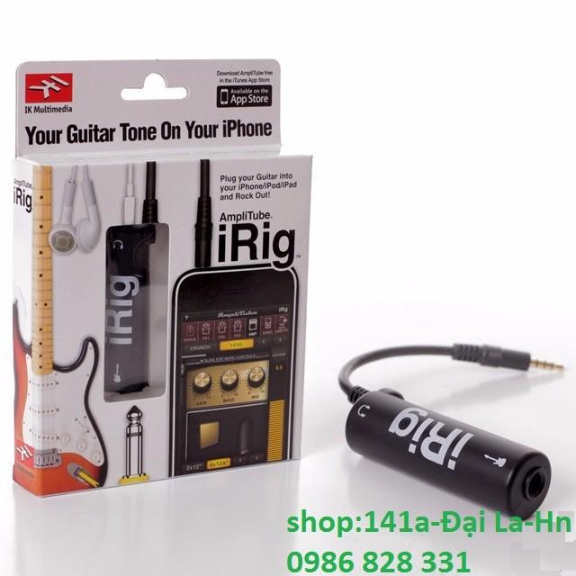Cáp iRig AmpliTube kết nối đàn Guitar với Điện thoại