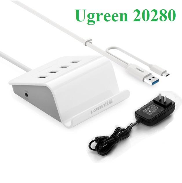 Bộ chia 4 cổng USB 3.0 hỗ trợ OTG chính hãng Ugreen UG-20280
