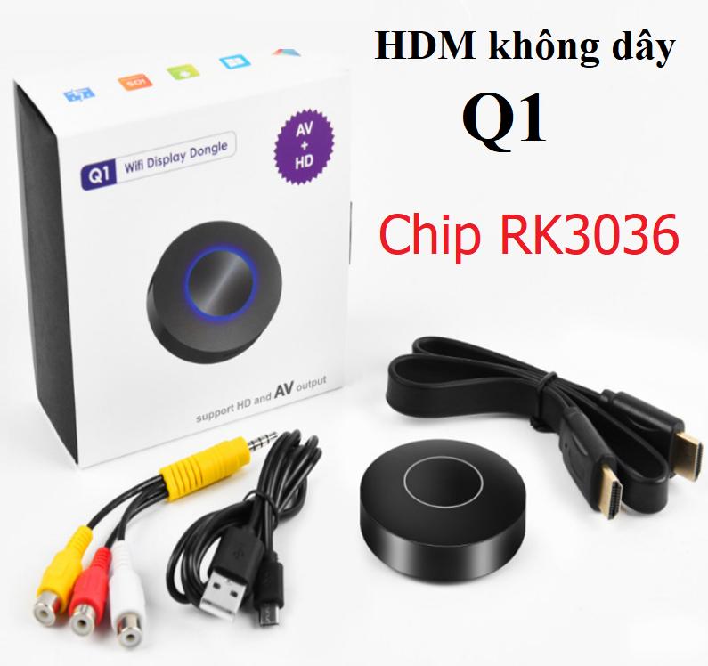 HDMI không dây Q1 chính hãng Dongle hỗ trợ kết nối AV