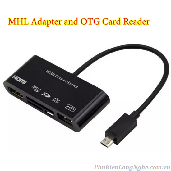 Cáp HDMI Kit OTG Card Reader cho Samsung Galaxy S3/ S4/ Note 2/ Note 3