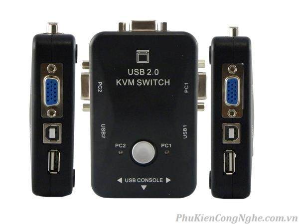 Bộ Switch KVM 2 cổng USB ViKI MT-201UK